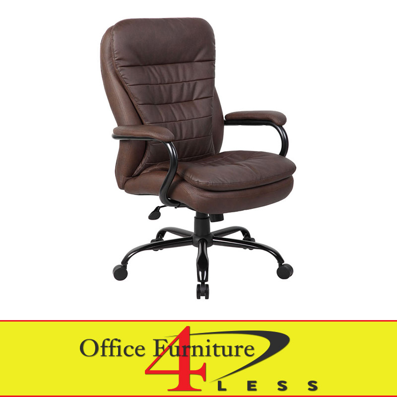 B991bb Big Tall Swivel Chair Brown Office