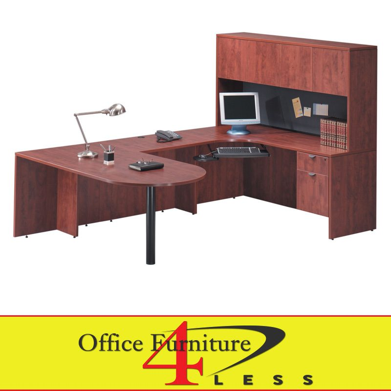 C Bullet U Desk 71 36 Shape With Hutch