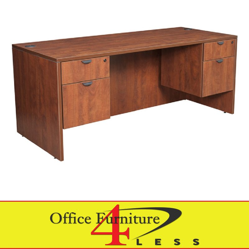 C Double Pedestal Desk 60 30