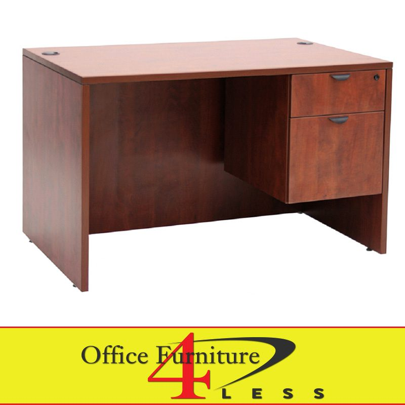 C Single Pedestal Desk U2013 48 X 24 Single Pedestal Desk