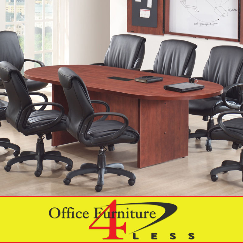 Oval Racetrack Top And Slab Style Base Office Furniture