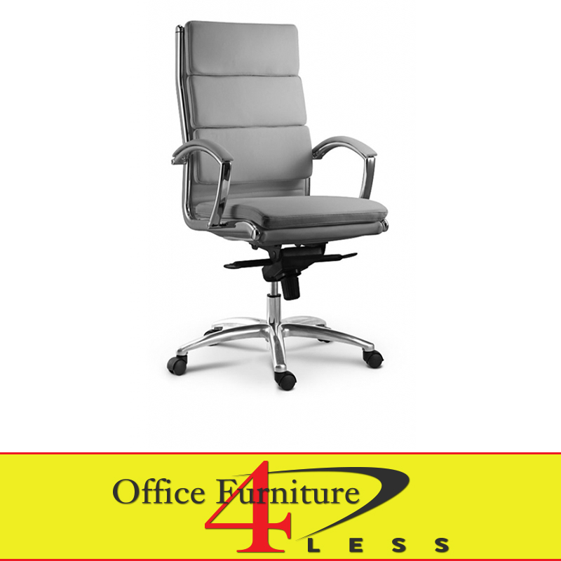 C 307hg Executive Highback Swivel Chair Grey Office Furniture 4 Lessoffice Less