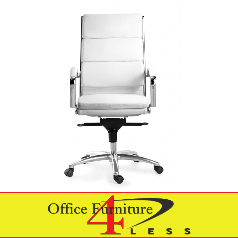 C 307HW Executive Highback Swivel Chair (White)   Office Furniture 4  LessOffice Furniture 4 Less