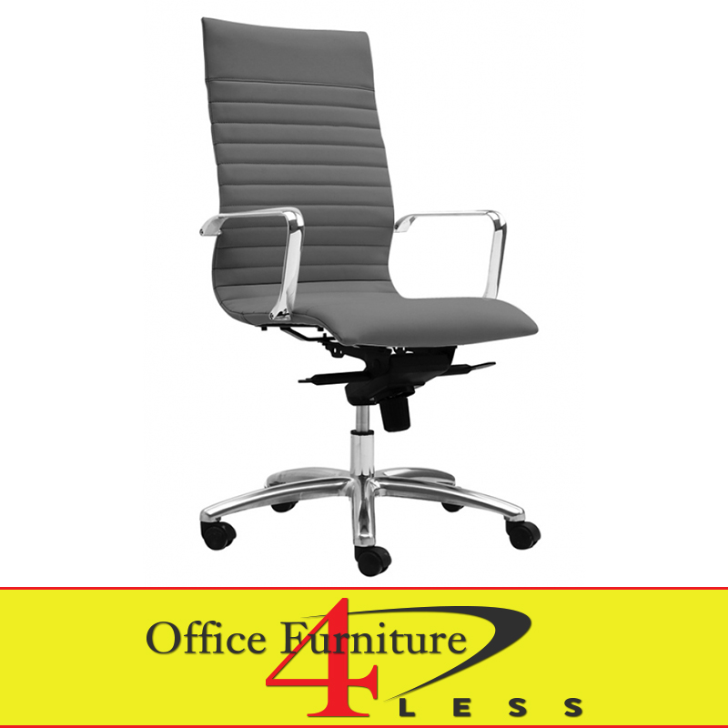 C 309hg executive highback swivel chair grey office for Furniture 4 less
