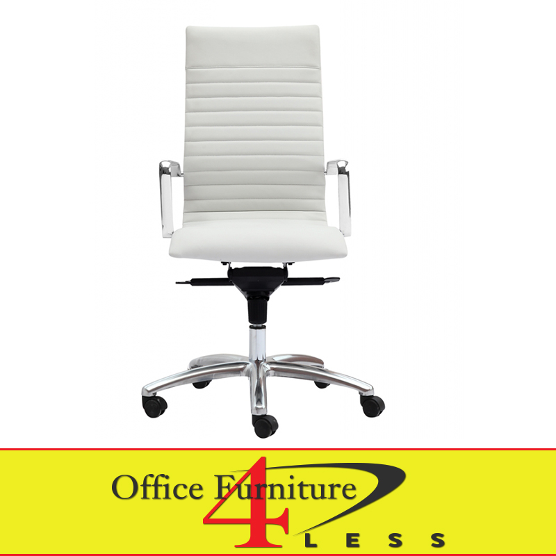 office chair white leather. C-309HW Executive Highback Swivel Chair (White) - Office Furniture 4  LessOffice Less Office Chair White Leather T