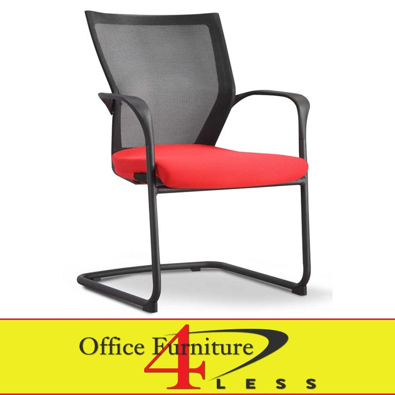 C 88b C Ps2 Rd Meshback Guest Chair Red Office Furniture 4 Lessoffice Furniture 4 Less
