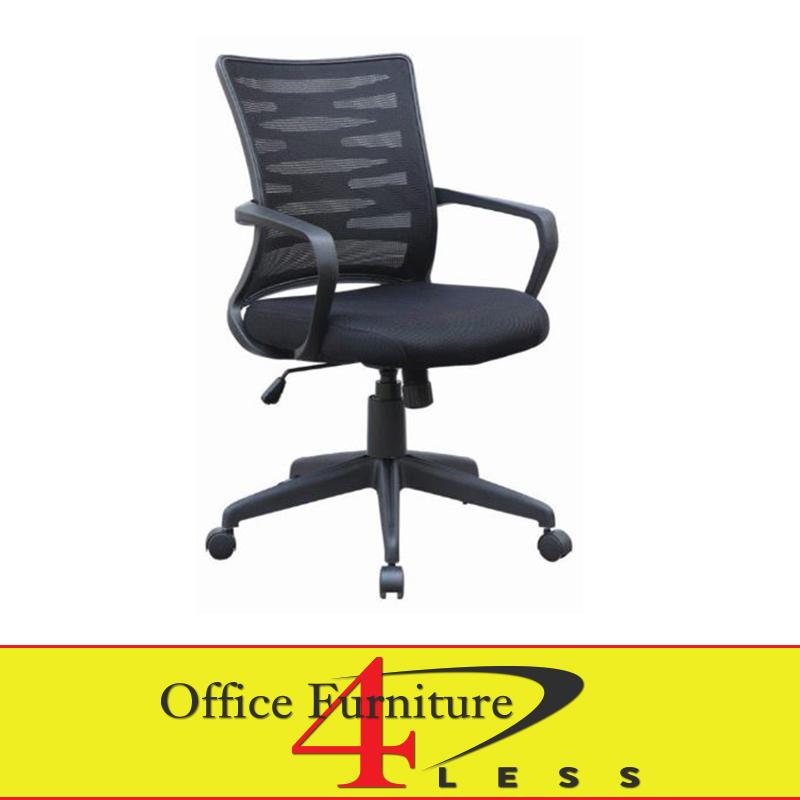 J 2022 Blk Mesh Back Swivel Chair Black Office Furniture 4 Lessoffice Less