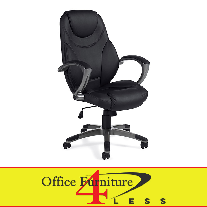 J 787 blk executive highback swivel chair black office for Furniture 4 less