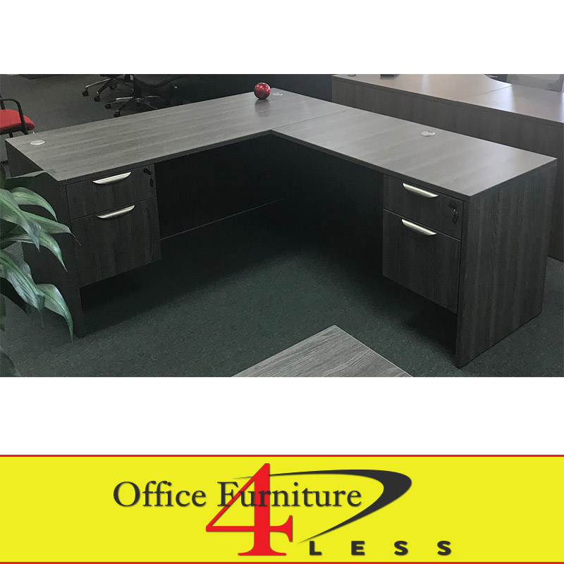 Nd Pl Grey L Shape Desk 66x30 48x24 Return Office Furniture 4 Lessoffice Less