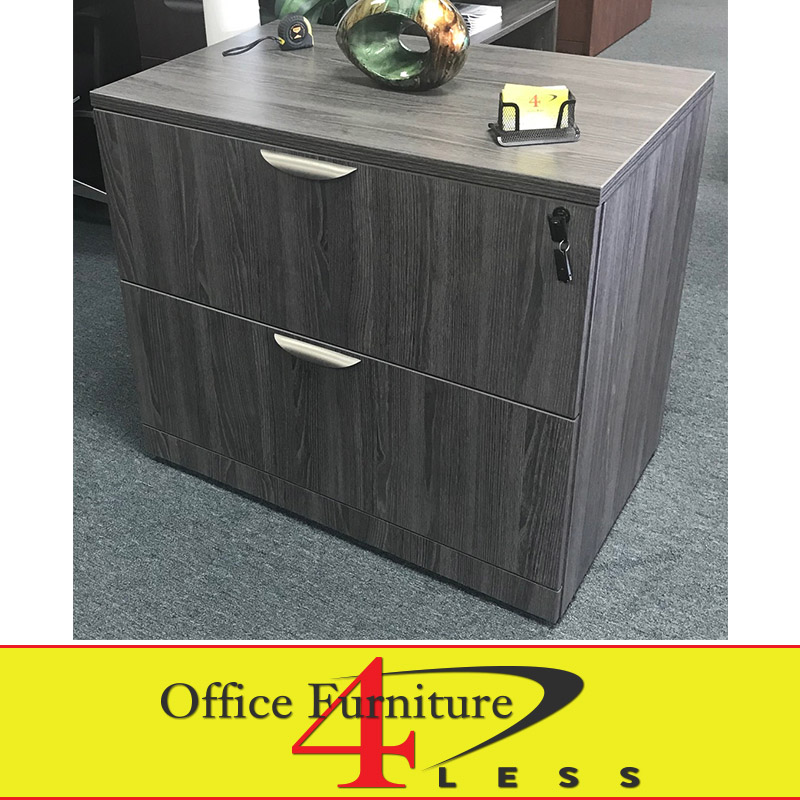 nd-pl grey - lateral file - 2 drawer