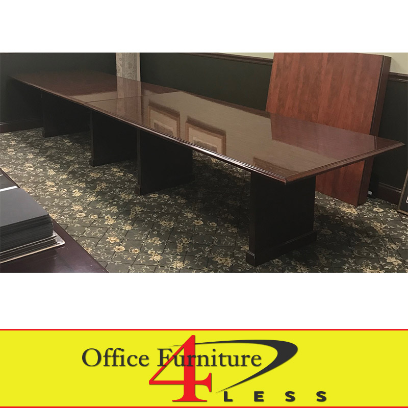 Used Traditional Wood Conference Table Ft Office Furniture - Used office furniture conference table