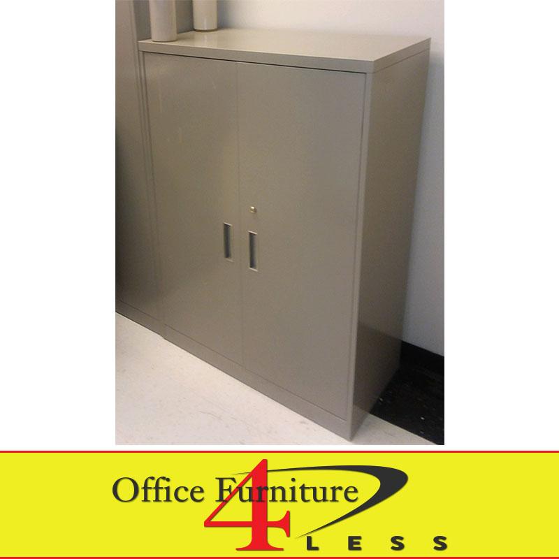 Used Metal Storage Cabinet >> Used Steelcase 800 Series Storage Cabinet 53 H Office Furniture