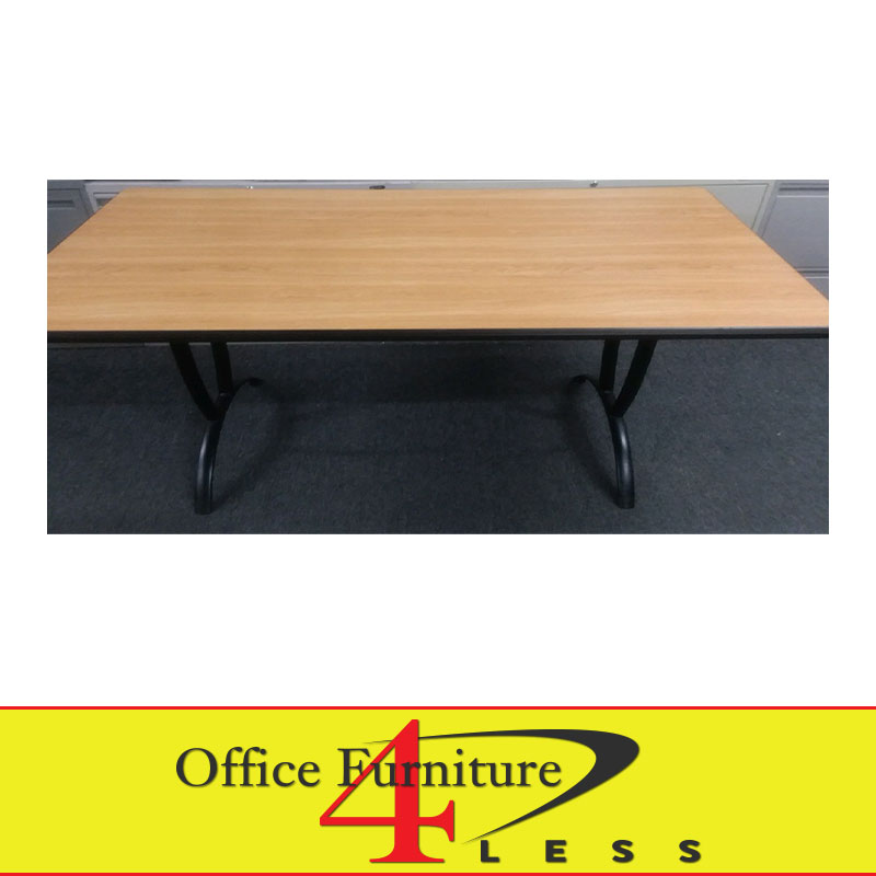 Used Training Table With Laminate Top Sizes Office Furniture - Training table sizes