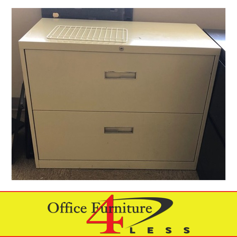 Used 2 Drawer Metal Lateral File With, File Cabinet 2 Drawer Metal